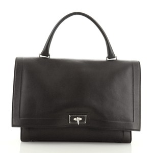 Givenchy Leather Satchel Tote in Black