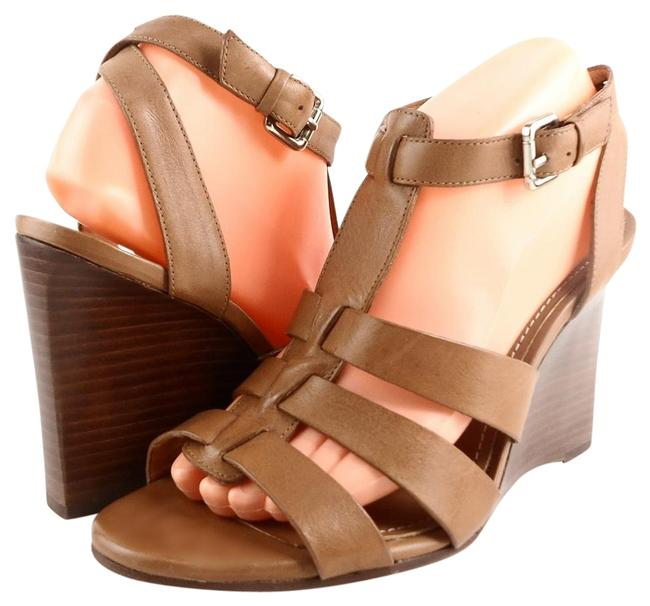 Item - Brown Lee Leather Strappy Wedge Sandals Size EU 39.5 (Approx. US 9.5) Regular (M, B)