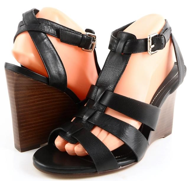 Item - Black Lee Leather Strappy Wedge Sandals Size EU 39 (Approx. US 9) Regular (M, B)