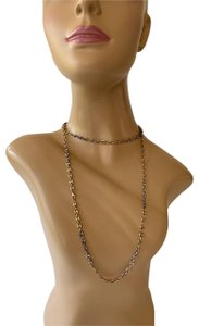 Gucci MARKED Not Legible 925 Sterling + Vermeil 'Gucci' STYLE Chain Necklace