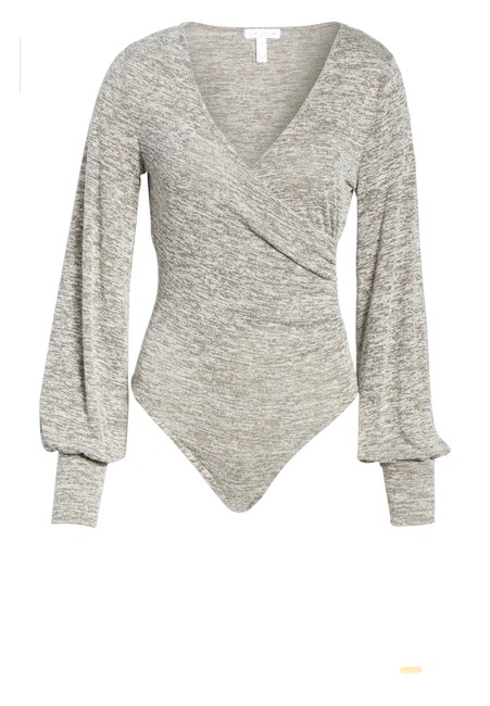 Item - Grey Ruched Bodysuit From Nordstrom Blouse Size 2 (XS)