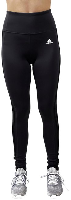 Item - Gray-carbon Black Stripe Climalite Women's Tights Mid Rise Activewear Bottoms Size 0 (XS, 25)
