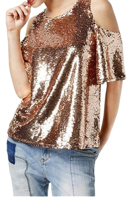 Item - Luxe Sequins Rose Gold Top