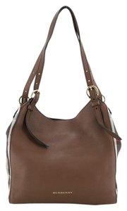 Burberry Canvas Leather Tote in Brown