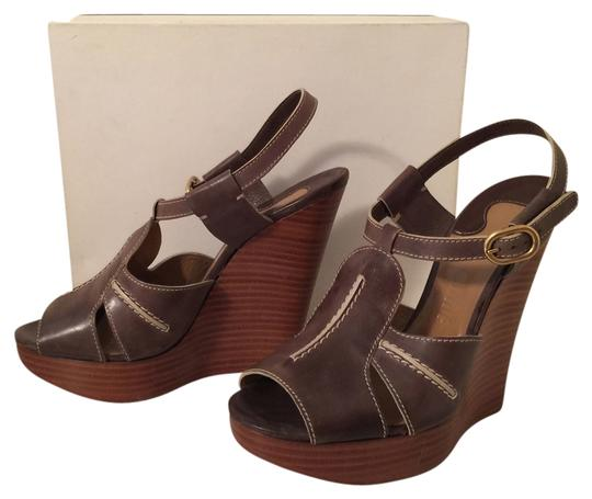Chloé Dark Taupe Wedges