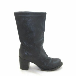 Fiorentini + Baker Leather Heeled Black Boots