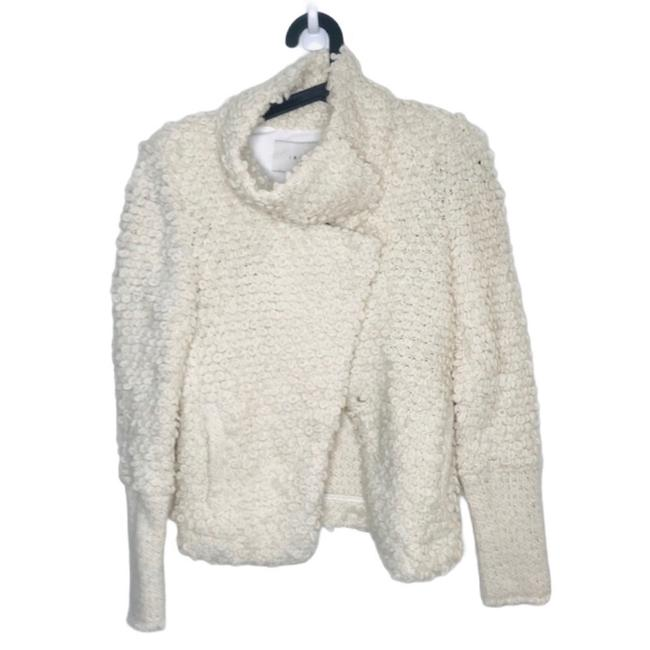 Item - Cream Caty Knit Looped Wool Cardigan Jacket Size 4 (S)