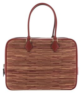 Hermes Leather Satchel in Red