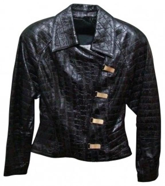 Preload https://item3.tradesy.com/images/black-embossed-leather-jacket-size-8-m-27027-0-0.jpg?width=400&height=650