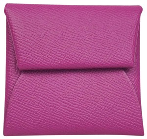 Hermes Hermes Magenta Epsom Leather Bastia Change Purse Waller #27417 SALE!