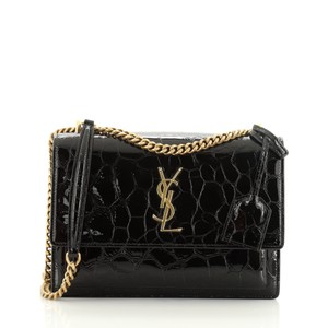 Saint Laurent Crossbody Patent Leather Shoulder Bag