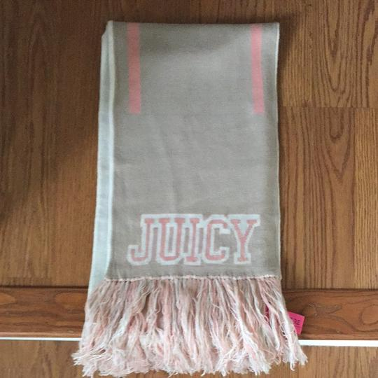 Juicy Couture Barely Worn Juicy Couture Extra Long Reversible Scarf Cream And Pink