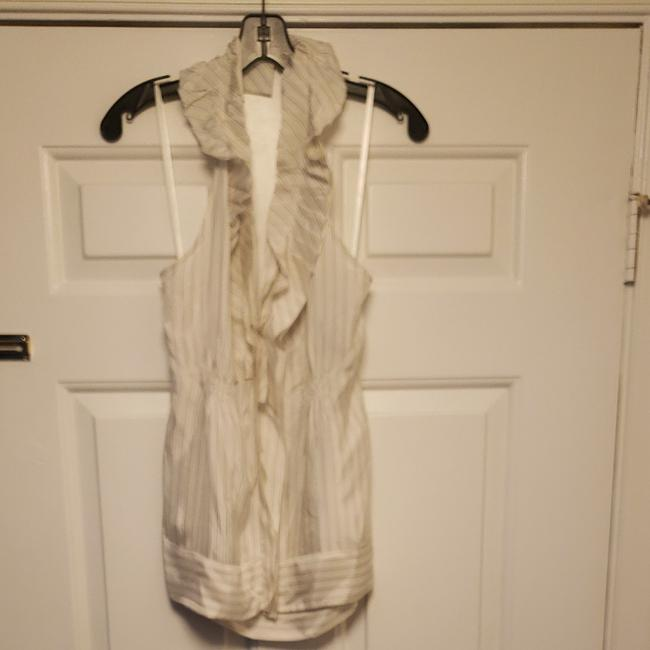 Item - Off White Combinations Woven Rayon Halter Top Size 10 (M)