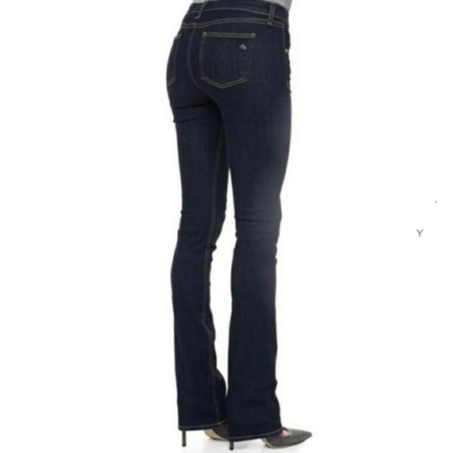 Item - Blue Dark Rinse For Intermix W1538k520in Flare Leg Jeans Size 28 (4, S)