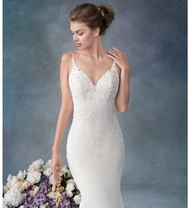 Kenneth Winston Vintage 1820 with Detachable Train Traditional Wedding Dress Size 10 (M)