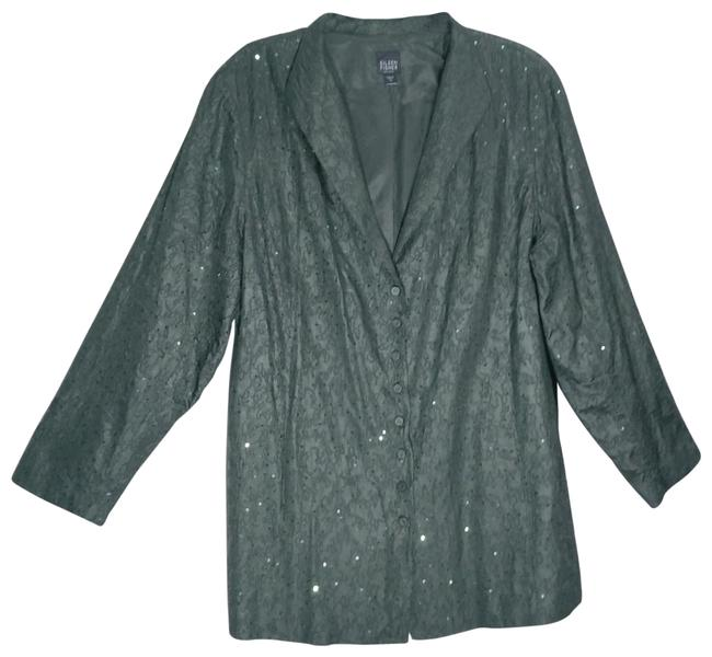 Item - Dark Green Silk Embroidery Sequin Jacket Size 16 (XL, Plus 0x)