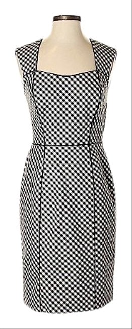 Item - & Checkered Mid-length Work/Office Dress Size 6 (S)