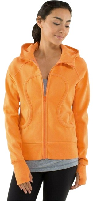 Item - Orange Zip Up Long Sleeve Activewear Outerwear Size 6 (S)
