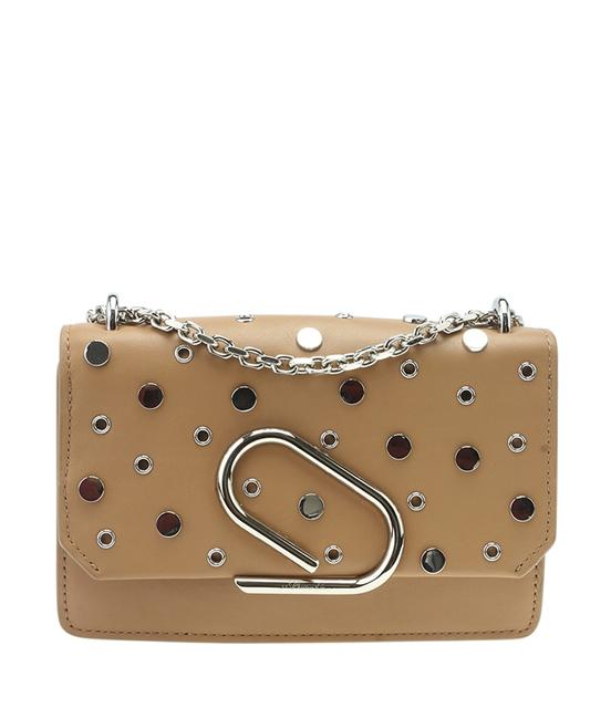 Item - Alix Studded Convertible (183897) Brown Leather Cross Body Bag