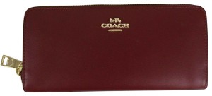 Coach COACH Smooth Leather Accordion Zip Wallet