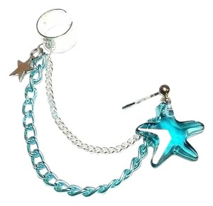 Jujubeads Nautical Crystal starfish ear cuff