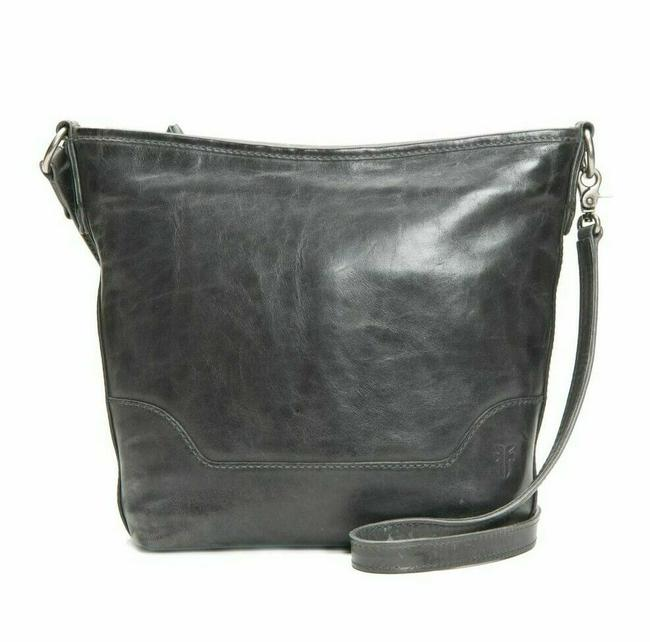 Frye Hobo Melissa Small Carbon Grey Leather Cross Body Bag Frye Hobo Melissa Small Carbon Grey Leather Cross Body Bag Image 1