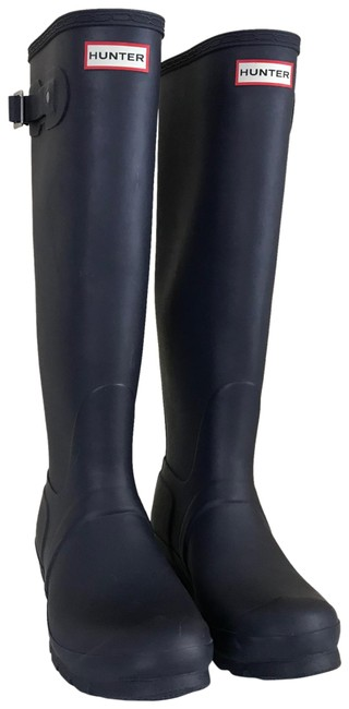 Item - Blue Tall Navy Stripe Rain Boots/Booties Size US 8 Regular (M, B)