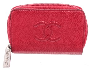 Chanel Chanel Red Caviar Leather Timeless Coin Purse