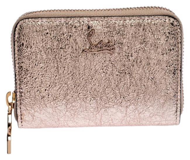 Item - Gold Rose Crackled Leather Panettone Wallet