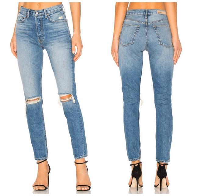 Item - Blue Distressed Karolina High Rise In Ball Of Confusion Skinny Jeans Size 0 (XS, 25)