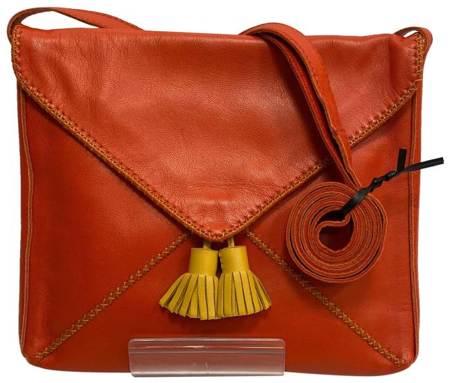 Item - Sac Pom Pom Red Calfskin Leather Cross Body Bag