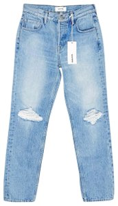 Item - Blue Distressed Kendall High Rise Skinny Jeans