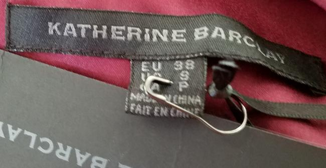Katherine Barclay Silky Ruched Top Wine