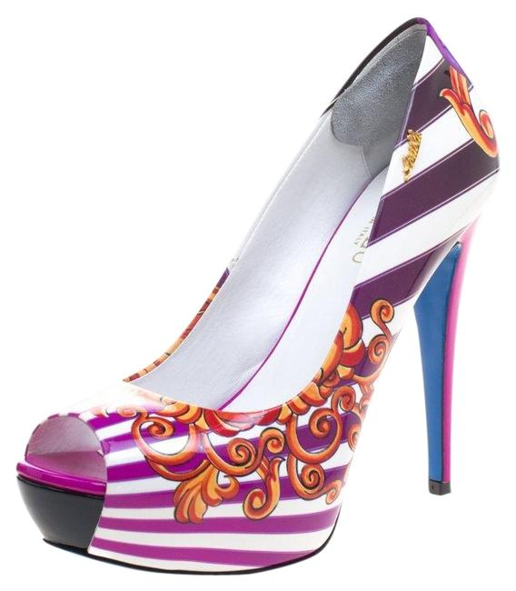 LORIBLU Multicolor Print Patent Leather 40 Pumps Size US 9.5 Regular (M, B) LORIBLU Multicolor Print Patent Leather 40 Pumps Size US 9.5 Regular (M, B) Image 1
