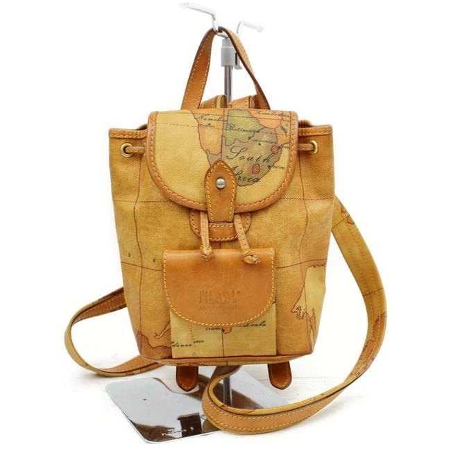 Item - Prima Classe Atlas Map 872433 Light Brown Coated Canvas Backpack