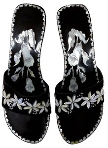 Other Sandal Of Pearl Asian Black Mules