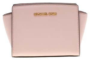 Michael Kors Leather Logo Satchel in Pink