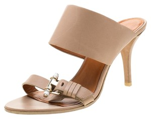 Givenchy Leather Detail Beige Sandals