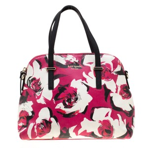 Kate Spade Fabric Leather Satchel in Pink