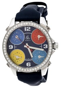 Jacob & Co. Multi-Color Dial Stainless Diamond Five Time Zone Wristwatch 40 MM