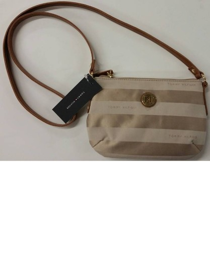 Tommy Hilfiger Canvas Two-tone Gold Hardware Cross Body Bag
