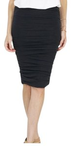 Zenana Outfitter Pencil Shirred Sexy Skirt Black