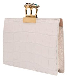 Alexander McQueen Cream Clutch