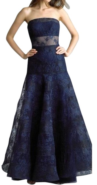 Item - Blue Nwt✨basix Navy Lace Strapless Gown Long Formal Dress Size 12 (L)