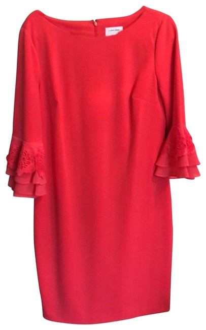 Item - Salmon Very Comfortable Mid-length Work/Office Dress Size 14 (L)