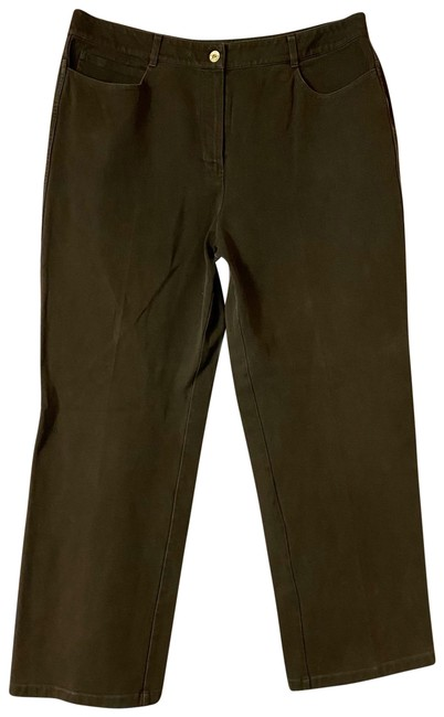 Item - Brown Sport Dark Stretch Cotton Jeans Pants Size 14 (L, 34)