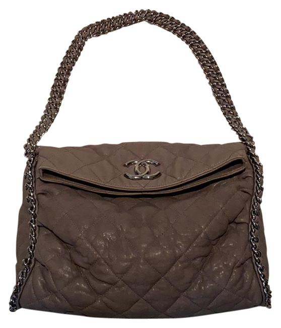 Item - Washed Chain Around Grey Lambskin Leather Hobo Bag