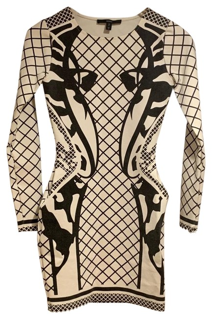 Item - Bodycon Black and White Short Night Out Dress Size 2 (XS)