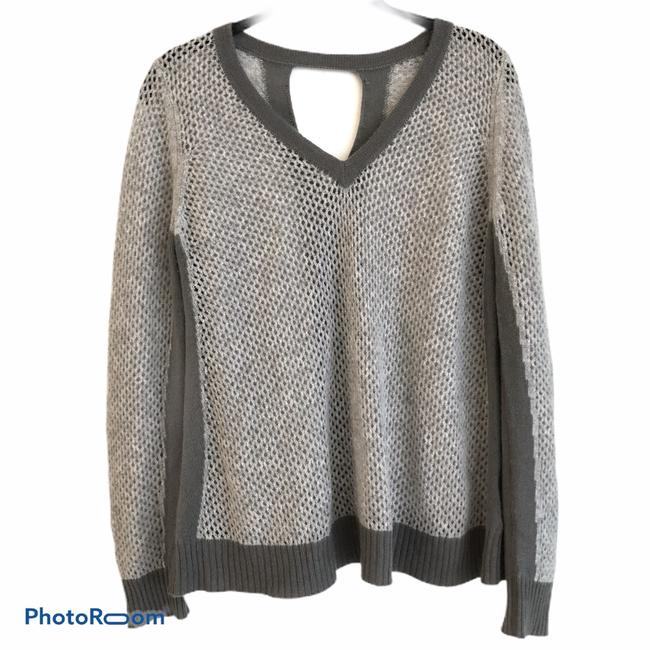 Item - Cashmere Open Knit Gray Sweater