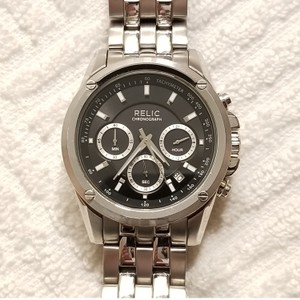 Relic Relic Chronograph Black Dial Watch Stainless Steel